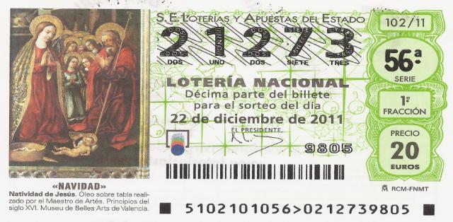 Lotería 21273