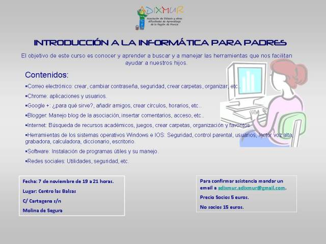 cartel cursos internet